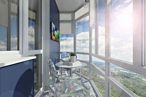 Особенности дизайна балкона с панорамным остеклением